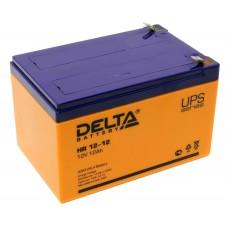 HR 12-12 (Delta) Аккумулятор 12В; 12 Ач, AGM
