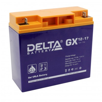 Delta GX12-17 (12В; 17А*ч) Гелевый аккумулятор