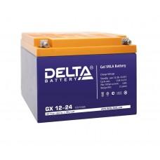 Delta GX12-24 (12В; 24А*ч) Гелевый аккумулятор