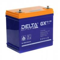 Delta GX12-55 (12В; 55А*ч) Гелевый аккумулятор