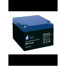HM-12-26 (12В; 26 А*ч) Аккумулятор AGM
